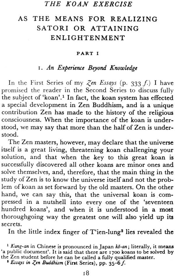 Essays in zen buddhism second series