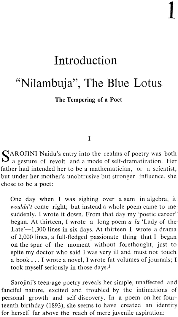 The Lyric Spring (A Study of the Poetry of Sarojini Naidu)