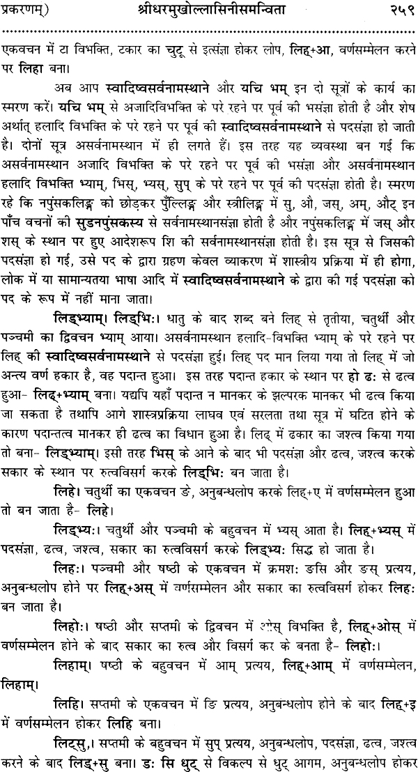 Laghu siddhanta kaumudi hindi