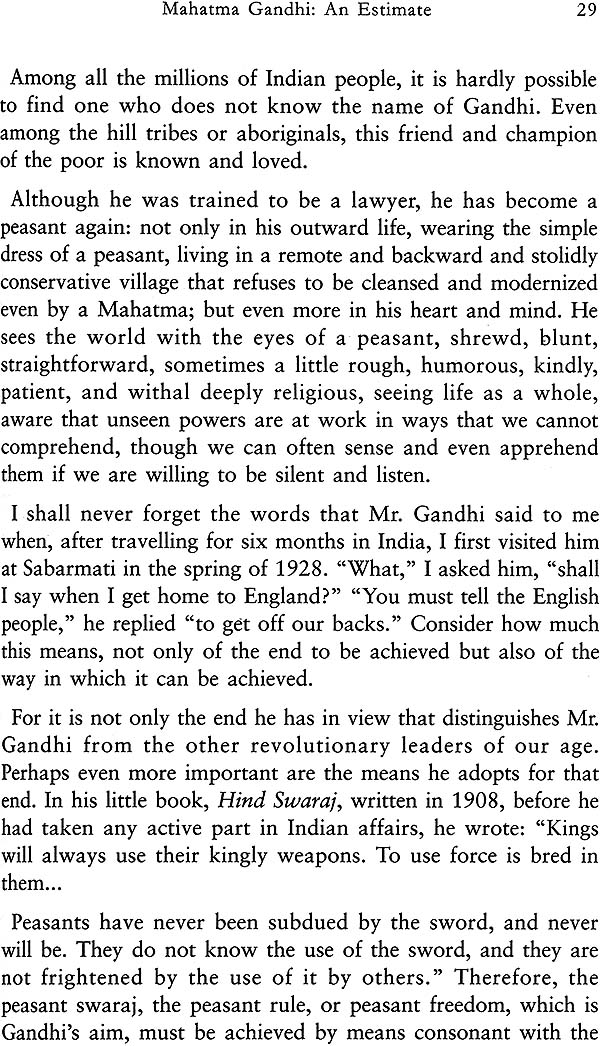Essays on gandhi