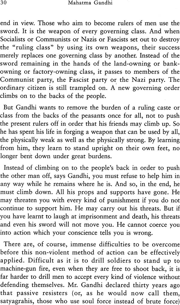 a critical view on reflections of gandhi Mahatma gandhi promoted non-violence but was critical of all faiths and what he saw as the hypocrisy of it was great from that point of view.
