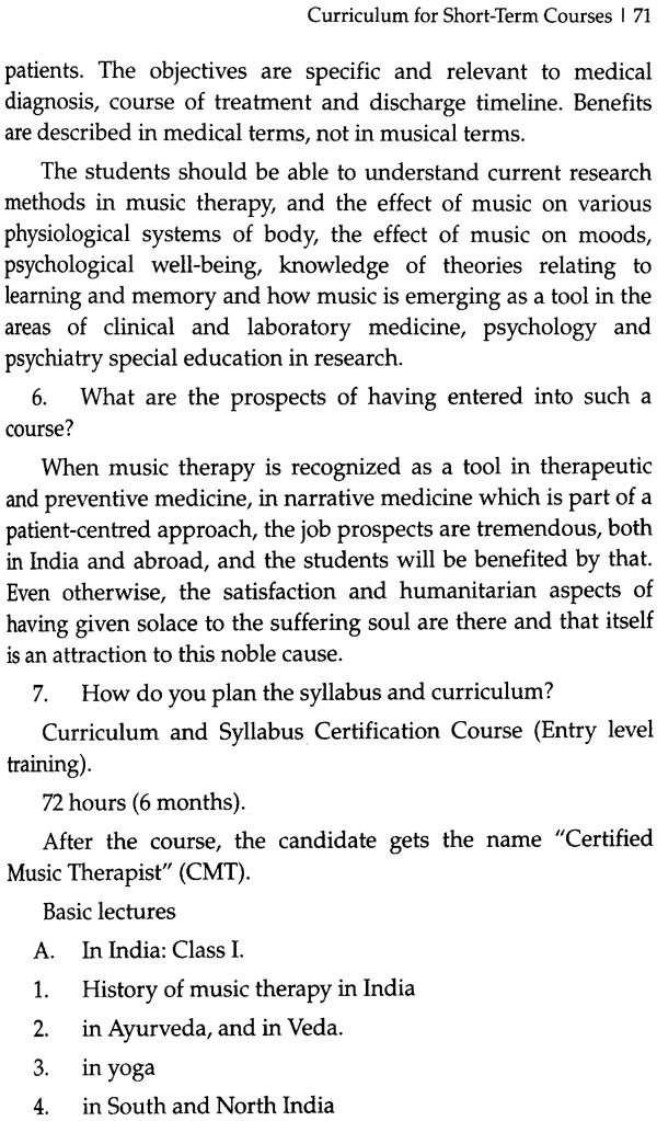 Music Management subjects in medical college