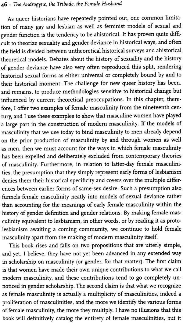 continuum of masculinity These were women who saw themselves on the masculine side of the continuum , and men who saw themselves on the feminine side of the.