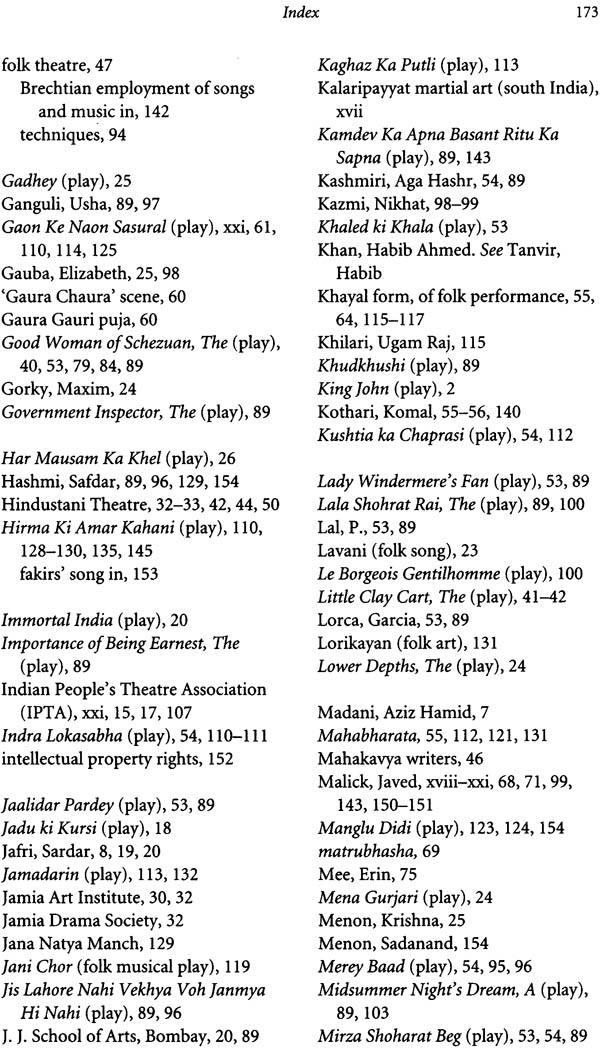 contemporary indian theatre and habib tanvirs Habib tanvir and naya theatre are two inseparable names which will always be remembered in the modern theatrical scenario in india it's been a y.