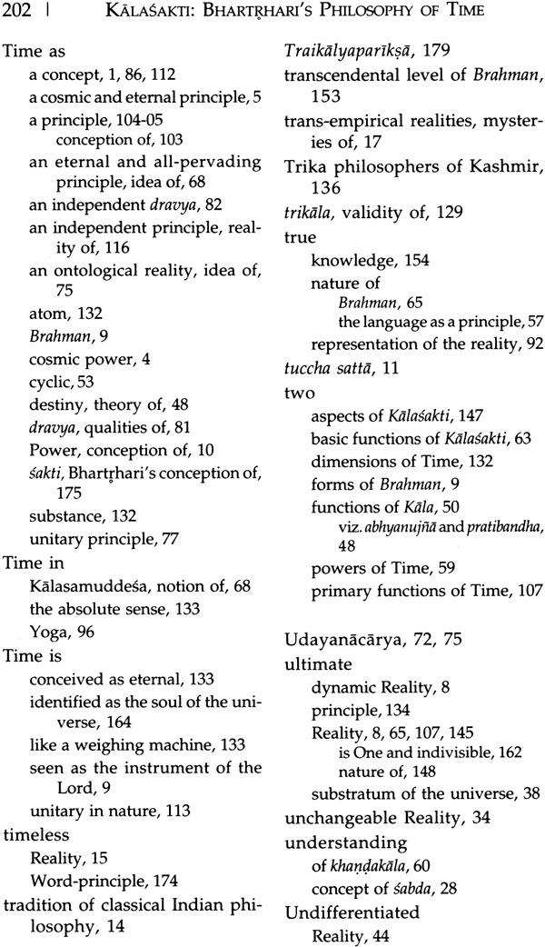 Kalasakti Bhartrhari's Philosophy of Time