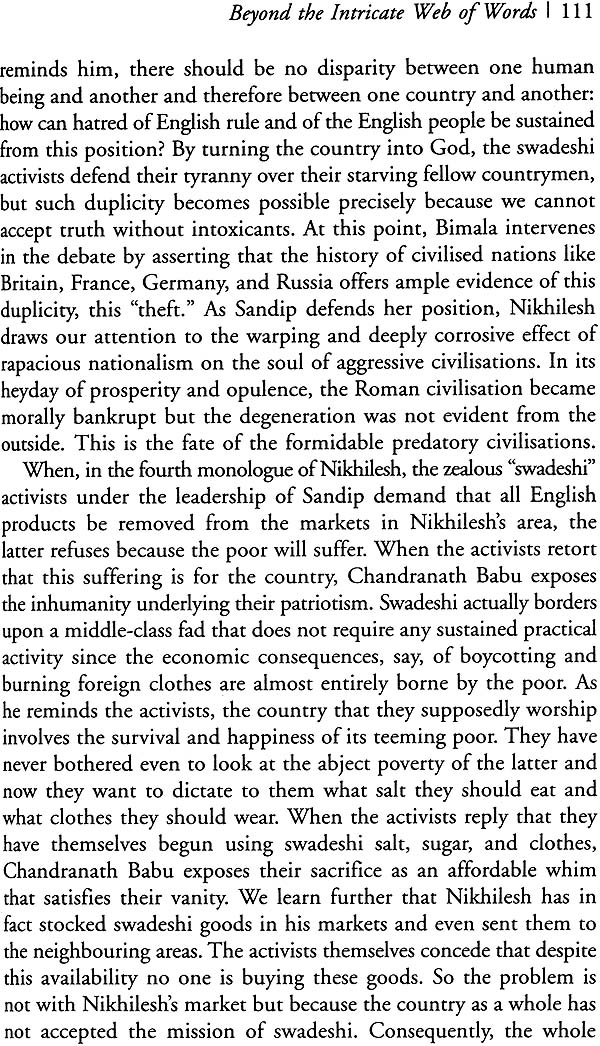 critical analysis of rabindranath tagore Though written in response to mussolini's invasion of algeria in 1935, the poem's  criticism of european colonialism in africa can be extended to the host of.