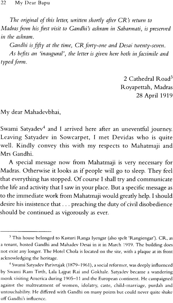 my dear bapu  letters from c  rajagopalachari to mohandas