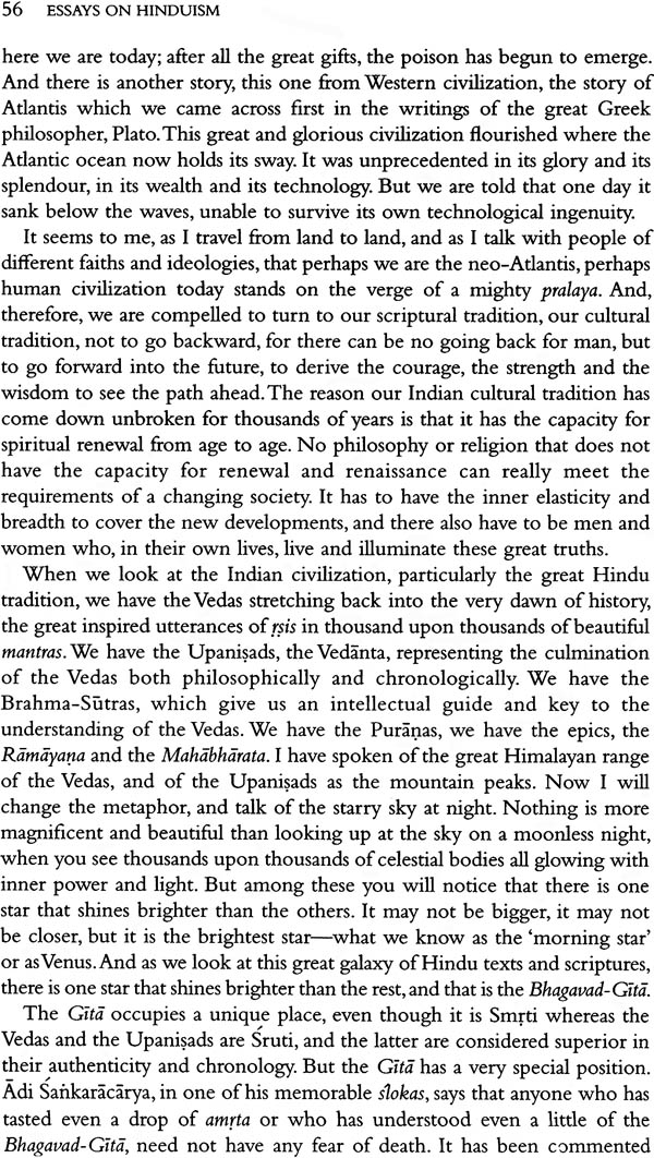 Essays on hinduism