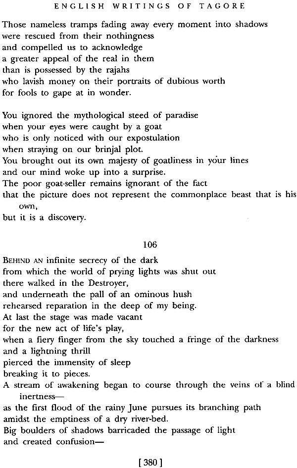 English writings of rabindranath tagore