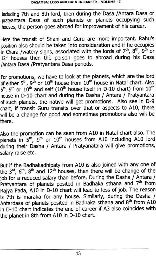 Dasamsa : Loss and Gain in Career