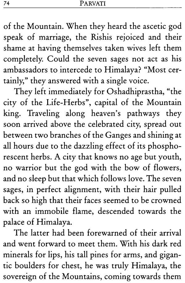 Parvati or Extreme Love (Based on Kumarasambhava by Kalidasa)