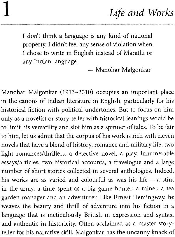 manohar malagoankar a bend in the ganges This would have been enough to earn manohar malgonkar a prominent place in literary annals and a bend in the ganges.