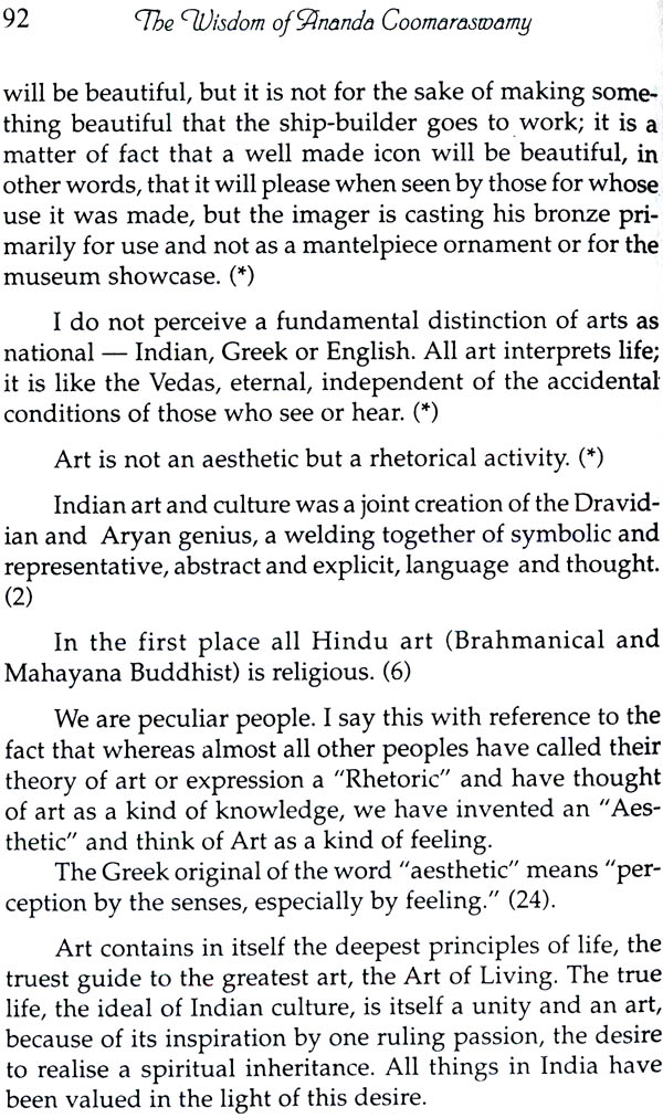 ananda coomaraswamy essays on the great