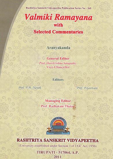 Valmiki Ramayana: Aranyakanda ((With Sanskrit Text, Roman Transliteration, Word-to-Word Meaning and English Translation))