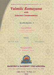 Valmiki Ramayana: Ayodhyakanda - Volume I ( (With Sanskrit Text, Roman Transliteration, Word-to-Word Meaning and English Translation))