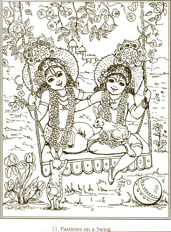 sample page - Baby Krishna Images Coloring Pages