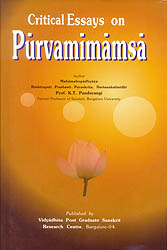 Critical Essays on Purvamimamsa