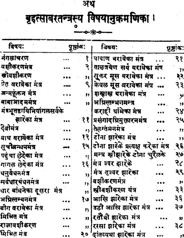 बृहत् साबरतन्त्र (विधान सहित) - Brihat Shabar Tantra