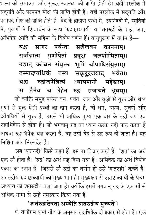 शतरुद्रीय (रुद्राभिषेक और प्रयोग) - Shata Rudriya with Rudra Abhishek and  Prayog