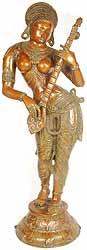 Apsara with Veena