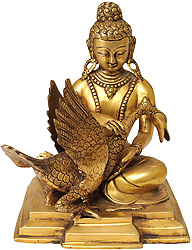 Kindness Personified (Buddha and the Swan)