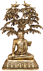Large Size Nirvana Buddha Under the Tree of Life