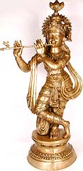 Krishna Playing on Flute