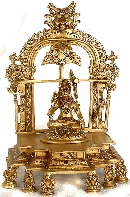 Lord Shiva on a High Throne