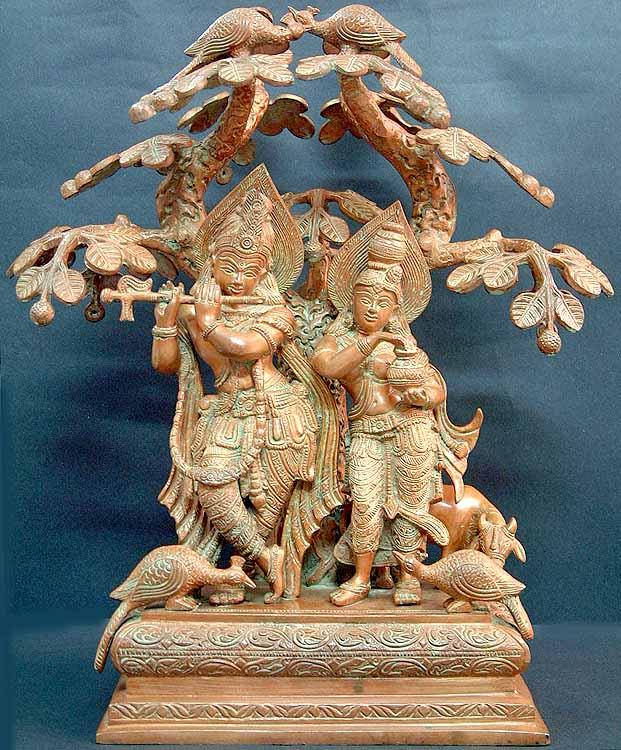 Radha and Krishna Under 'Kadamba'