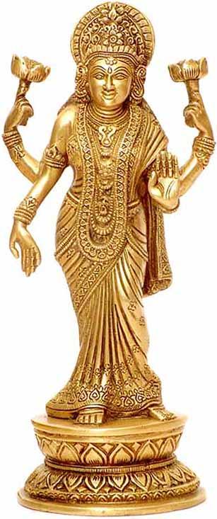 The Thrice Bent Lakshmi in a Sari