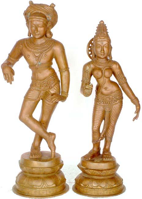 Vrishavahana Shiva and Parvati