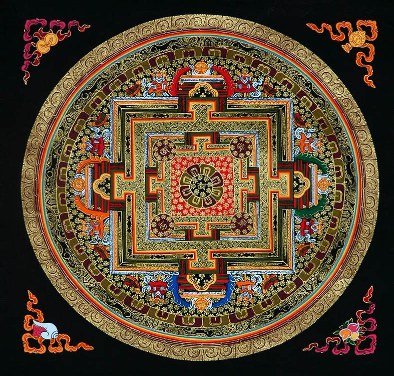 spiral asian buddhist mandala