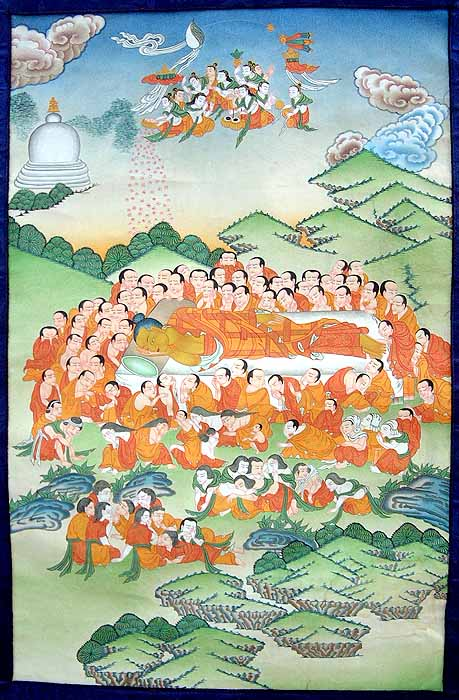 Shakyamuni Buddha Attaining Parinirvana