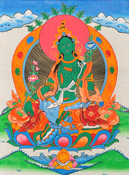Green Tara - The Beautiful Goddess