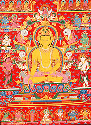 Thangka Paintings of the Buddha and Scenes from His Life