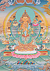 Future Buddha Maitreya (Super Large Thangka)