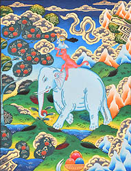 The Four Harmonious friends (mthun-po spun-bzhi, Skt. catvari anukulabhratr)