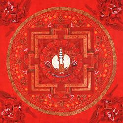 Thousand Armed Avalokiteshvara Mandala (Red Thangka)