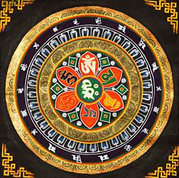 Mandala of OM MANI PADME HUM