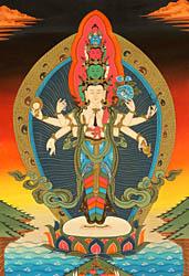 Samantamukha Avalokiteshvara - Bodhisattva of Compassion