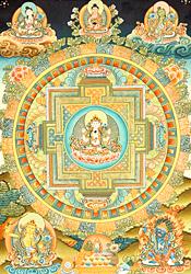 Chenrezig (Shadakshari Avalokiteshvara) Mandala