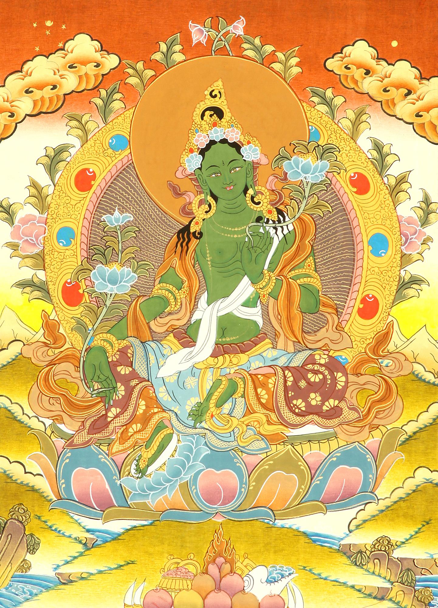 Savior Goddess Green Tara