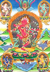 Kurukulla - The Red Tara with Her Emanations