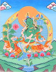 A Fine Portrait of Saviour Goddess Green Tara