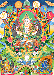 The Patron Deity of Om Mani Padme Hum