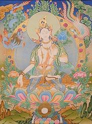 Superfine Portrait of Goddess White Tara