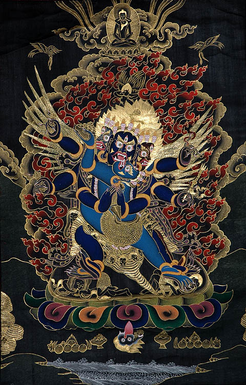 Six-Armed Winged Vajrakumara (Vajrakila) Father-Mother