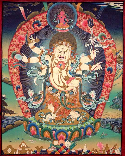 White Mahakala (The Deity of Wealth and Prosperity)
