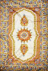 вышитый коврик из Индии