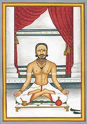 A Brahmin Doing Sandhya Vandanam or Sandhya Vandanam